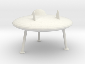 N Scale Flying Saucer in White Natural Versatile Plastic
