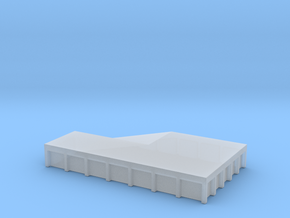 Train Loading Platform 1/120 in Smooth Fine Detail Plastic