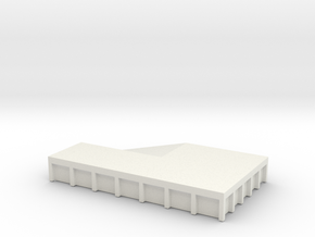 Train Loading Platform 1/160 in White Natural Versatile Plastic
