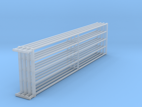 1/64 16ft Freestall barn Gates  in Smooth Fine Detail Plastic