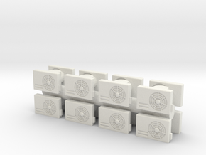 Air Conditioning Unit (x16) 1/87 in White Natural Versatile Plastic
