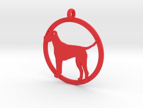 Irish Terrier charm in Red Processed Versatile Plastic