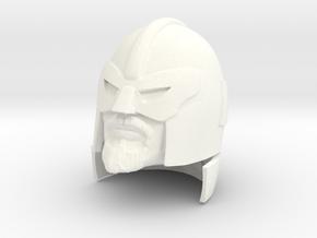 Colonel Blast (with Visor) Head in White Processed Versatile Plastic