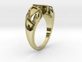 Engagement Ring Version 2 in 18K Yellow Gold