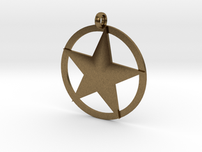 Star charm in Natural Bronze