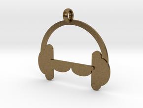 Headphones charm in Natural Bronze