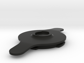 Quad Lock-PopSocket Swappable Adapter in Black Natural Versatile Plastic