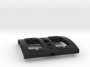 74MM Wide Dual Servo Mount for SCX10 II in Black Natural Versatile Plastic