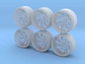 1/64 scale 30 inch wheels in Smoothest Fine Detail Plastic