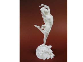 9 inches tall- FlowerDancer-TimKing in White Natural Versatile Plastic