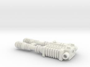 TF CW Brake-Neck Wildrider Car Cannon Seige in White Natural Versatile Plastic