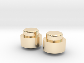 Adjustment Buttons - Metal in 14K Yellow Gold