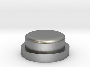 Fire Button - All Materials in Natural Silver