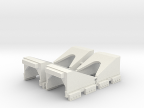 N Gauge RhB buffer stop (tall version) X4 in White Natural Versatile Plastic