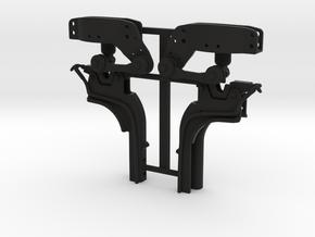 THM 07.4010-11 Rear cabin lock Scania in Black Natural Versatile Plastic