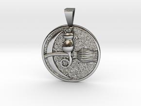 Feline Dreaming  in Polished Silver