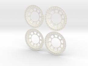 TRXU01-01_0-1 Traxxas UDR Hub Caps in White Processed Versatile Plastic