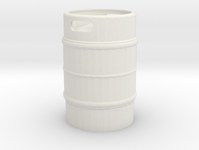 Beer Keg 1/12 in White Natural Versatile Plastic