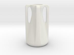 Modern Miniature 1:12 Vase in White Natural Versatile Plastic: 1:12