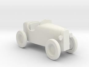 Miniature 1:12 Dollhouse Car in White Natural Versatile Plastic: 1:12