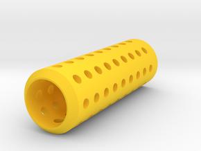 HMP Type III Muzzle (150mm) for Nerf Modulus in Yellow Processed Versatile Plastic