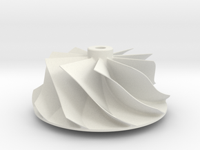 Centrifugal Compressor Impeller in White Natural Versatile Plastic
