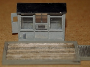 N-Scale Grain Scale & Shack in Smooth Fine Detail Plastic