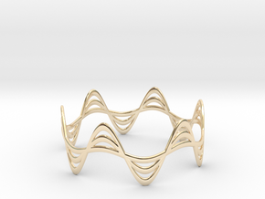 Triple Wave Bracelet (67mm) in 14K Yellow Gold