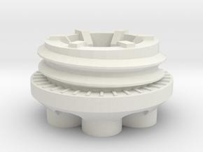 Bruder tractor wheel reduction in White Natural Versatile Plastic