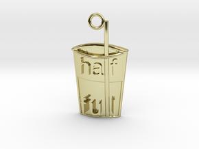 Half Glass Full Pendant in 18K Yellow Gold
