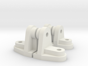 Kyosho Optima OT-48 Front and Rear Radio Box Mount in White Natural Versatile Plastic