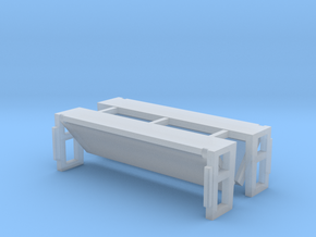 Folded Bed Lift Gate UP Position 1-64 Scale 2 Pack in Smooth Fine Detail Plastic