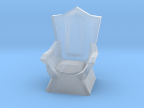 Miniature Throne in Smooth Fine Detail Plastic