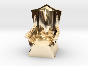 Miniature Throne in 14k Gold Plated Brass