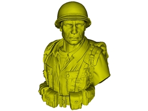 1/9 scale D-Day US Army 82nd Airborne soldier bust in Smooth Fine Detail Plastic