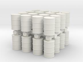Oil Barrel (x32) 1/144 in White Natural Versatile Plastic