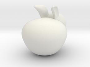 Decorative Rabbit Sculpture in White Natural Versatile Plastic: Small