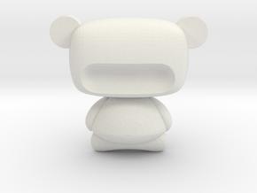 Modern  Sculpture in White Natural Versatile Plastic: Small