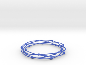 Droplet Bangle in Blue Processed Versatile Plastic