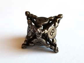 D8 Balanced - Snakes in Polished Bronze Steel