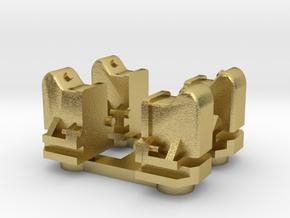 NTM Aspot, nieuw model. 4 st. in Natural Brass