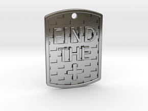 Find the Positive Dog Tag in Polished Silver