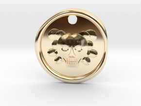 Don't Let Your Dreams Die Skull Wax Seal in 14k Gold Plated Brass