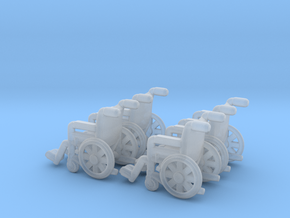 Wheelchair 01.  N Scale (1:160) in Smoothest Fine Detail Plastic