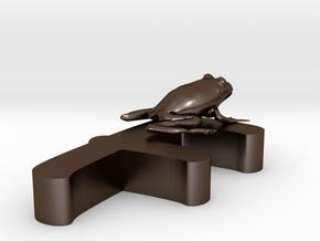 F-Frog-One-Stroke in Polished Bronze Steel
