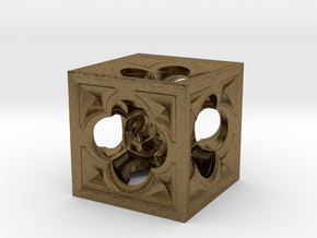 Fractal Menger Cube NH3 in Natural Bronze