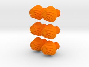 Nerf Microdart Rifled Tip Replacement (Set of 6) in Orange Processed Versatile Plastic