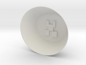 Creeper Bowl in White Natural Versatile Plastic