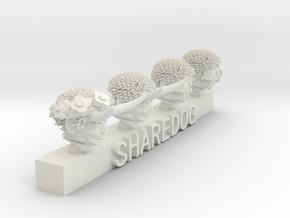 Head Series: Chaos Servants in White Natural Versatile Plastic