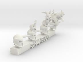 Head Series: Skull Trophies in White Natural Versatile Plastic